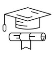 school graduated icon outline style vector image