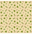 Seamless pattern with acorns and oak leaves vector image vector image