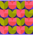 seventies vibes abstract flower seamless pattern vector image vector image