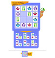 shape pieces completes the puzzle game vector image vector image