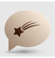 Shooting star sign Brown gradient icon on bubble vector image vector image