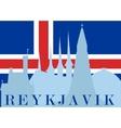 sights reykjavik vector image