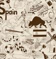 Sketch Spain seamless pattern vector image