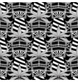 striped black and white greek seamless pattern vector image vector image