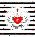 stylish valentines day vector image vector image