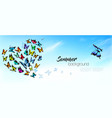 summer nature background with a colorful vector image
