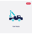 two color tow truck icon from construction vector image vector image