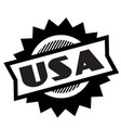 usa black stamp vector image