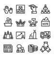 vote election democracy icon set vector image