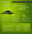 web site for business green with green sprout vector image vector image
