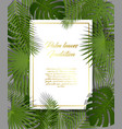 white paper on green summer tropical background vector image vector image