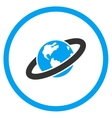 Ringed Planet Icon vector image