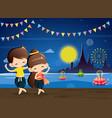 cute boygirl in national costume-thai dance vector image