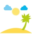 beutiful beach day landscape design vector image