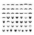 mustache and beard icons set simple style vector image