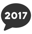2017 Message Flat Icon vector image vector image