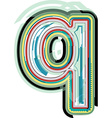 Abstract colorful Letter q vector image vector image