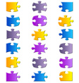 All possible shapes of jigsaw puzzle vector image vector image