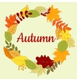 Autumnal colorful border or frame vector image vector image