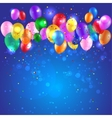 Background with color balloons vector image vector image