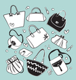 Bags collection vector image