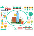 beekeeping business farming man with bees vector image vector image