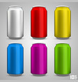 beer bottle set color vector image vector image