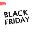 black friday sale on white background eps10 vector image