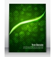 Bright green poster vector image vector image