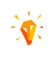 bulb lamp idea think geometric polygonal logo icon vector image