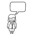 Businesswoman Speech Bubble vector image vector image