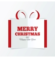 Christmas box cut the paper Cutout paper gift box vector image