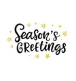 christmas ink hand lettering seasons greetings vector image vector image