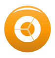 circle diagram icon orange vector image vector image