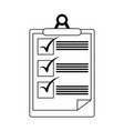 clipboard checklist document symbol in black and vector image vector image