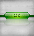 Cloud Button vector image vector image