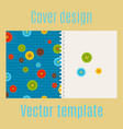 cover design with colorful buttons pattern vector image vector image