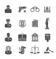 Crime and Punishment Icons vector image vector image