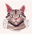 cute cat face flat vector image vector image