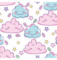 cute clouds background vector image vector image