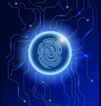 cyber security concept abstract technology vector image vector image
