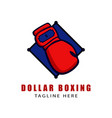 dollar boxing glove logo vector image