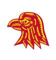 eagle head side woodcut vector image vector image