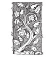 early gothic ornament vine was a design found in vector image vector image