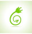 Eco electric plug icon vector image vector image