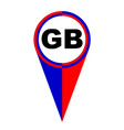gb map pointer location flag vector image vector image