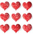 heart tattoo icon vector image vector image