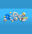 holiday summer background 3d lifesavers vector image