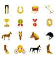 Horse Icons Set vector image vector image