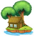 House on an island vector image vector image